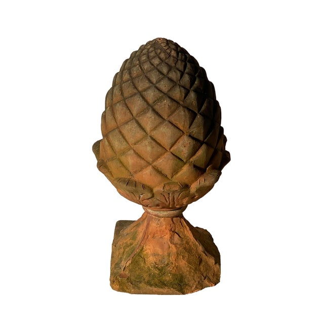 French Country Terra Cotta Acorn Finial For Sale - Image 3 of 9