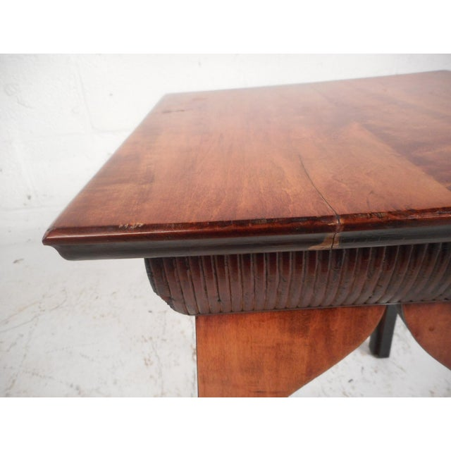 1970s Small Mid-Century Modern Sculpted Side Table or Pedestal For Sale - Image 5 of 6