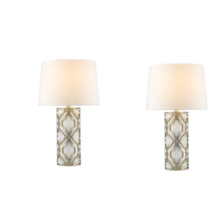 Arabella Antique Silver Lamps - A Pair For Sale