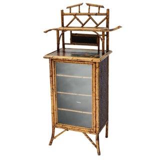 Burnt bamboo cabinet
