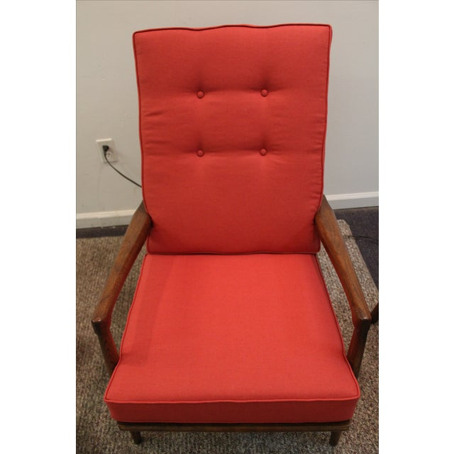 Mid-Century Modern Pearsall-Style Chair & Ottoman - Image 6 of 10