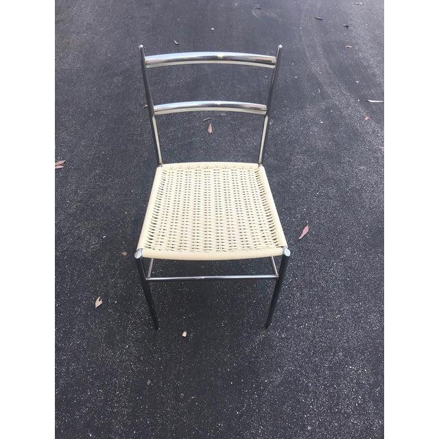 Chrome 1960s Vintage Gio Ponti Chrome Superleggera Chairs - Set of 4 For Sale - Image 7 of 13