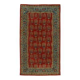 Antique Indian Agra Rug with Modern Traditional Style, Gallery Rug For Sale