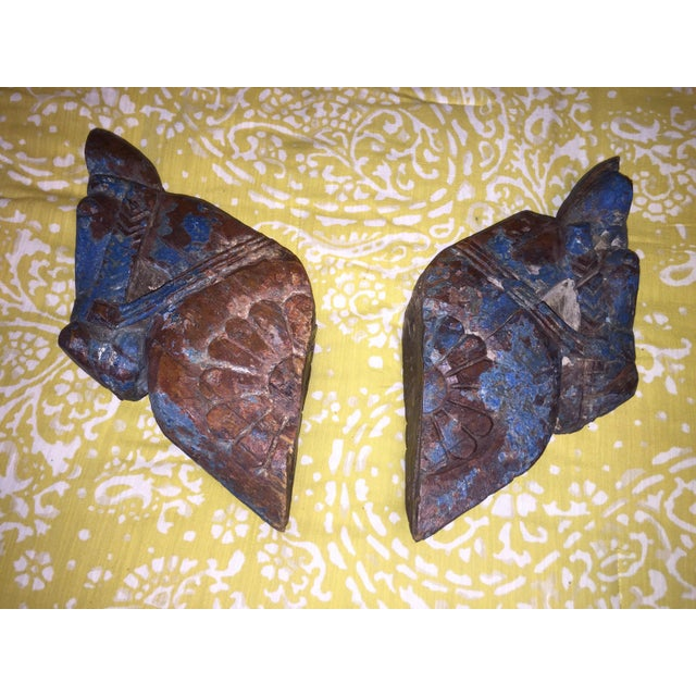 18th Century Rajput Horse Heads - a Pair - Image 2 of 11