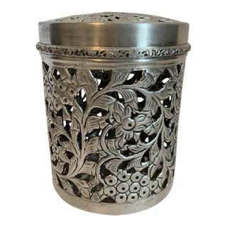 John Richard Collection Silver Lidded Decorative Vessel For Sale