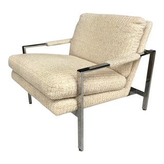 Milo Baughman Chrome Lounge Chair Thayer Coggin For Sale