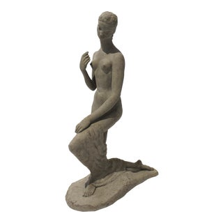 "Vintage Willhelm Lehmbruck ""Kneeling Woman 1911"" Museum Sculpture Reproduction For Sale"