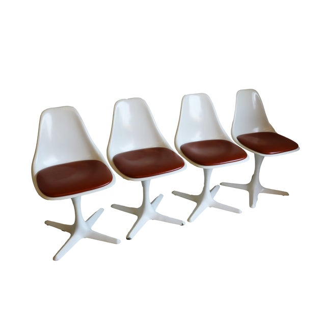 Mid-Century Modern Burke Tulip Chairs - Set of 4 - Image 3 of 9