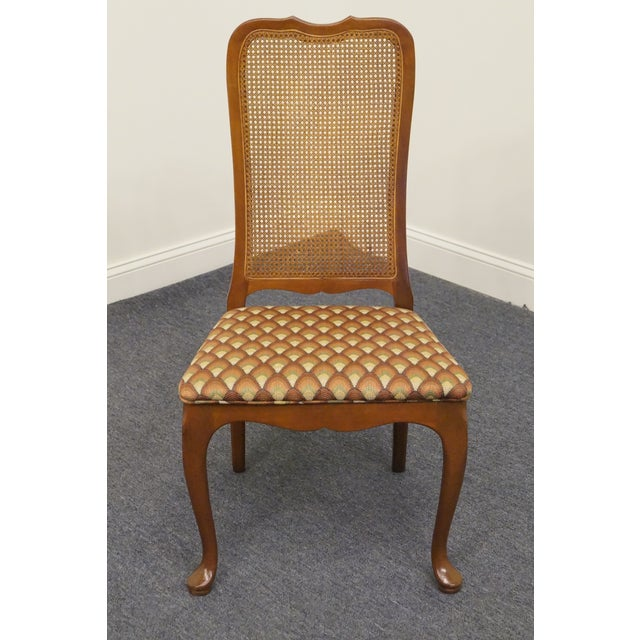 "GEORGETOWN GALLERIES Solid Cherry Cane Back Side Chair 851 39.75"" High 21"" Wide 22"" Deep Seat: 18"" High We specialize in..."