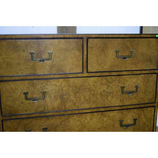 John Widdicomb 1950s Campaign John Widdicomb Highboy Dresser For Sale - Image 4 of 5