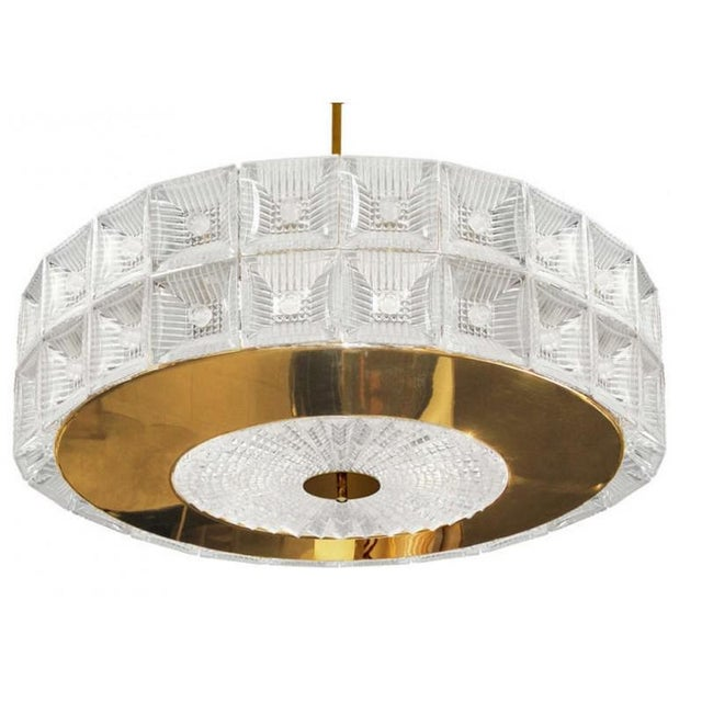 "2010s Murano Glass & Gold Plated ""Venini Drum"" Flush Mount For Sale - Image 5 of 5"