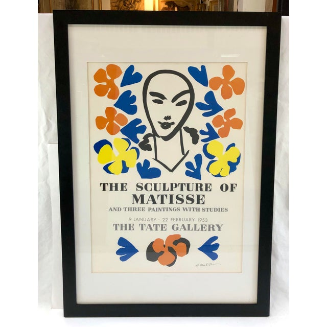 Lithograph Original Henri Matisse 1953 Exhibition Poster from Tate Gallery For Sale - Image 7 of 7