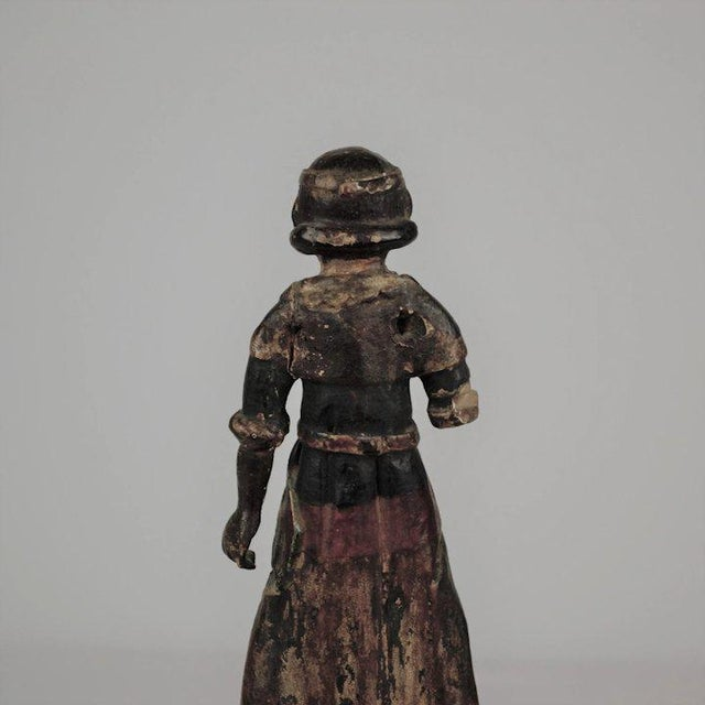 19th Century Carved Wood Youth For Sale - Image 12 of 13