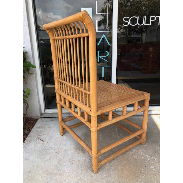 Beige 1980s Vintage Retro Boho Chic Accent Chair For Sale - Image 8 of 11