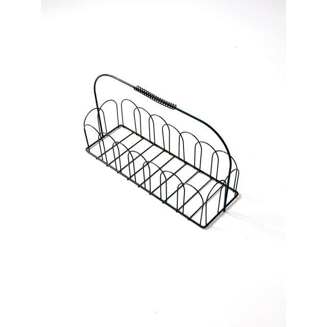 Vintage Wire Metal Handled Basket For Sale - Image 7 of 8
