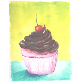 Dessert Cup Cake Still Life Painting by Cleo For Sale