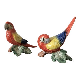 Rare! Fitz & Floyd Tropical Bird Salt & Pepper