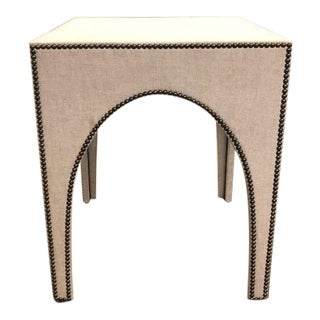 Century Furniture Fully Upholstered Lamp Table For Sale