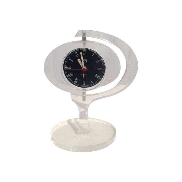 Mid-Century Modern Jetsons Lucite Alarm Clock - Image 1 of 4