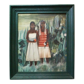Haitian Girls Painting For Sale