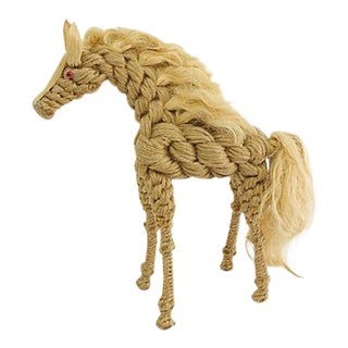 Mid-Century Rope Horse Figure For Sale