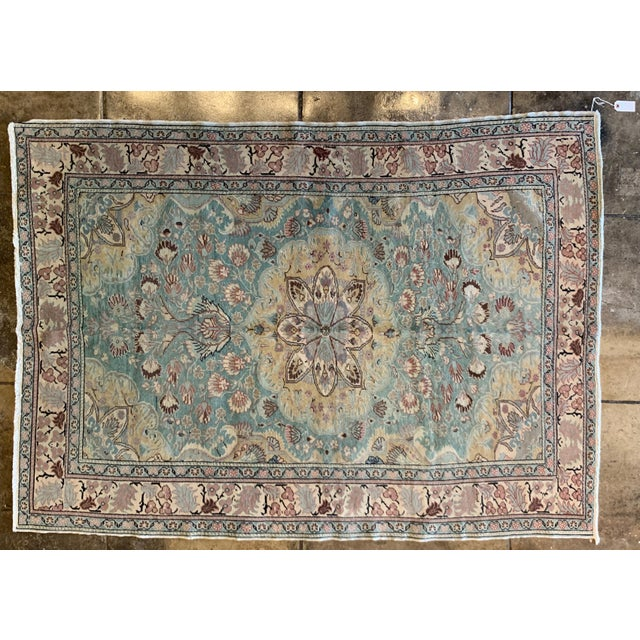 """Mid 20th Century Antique Persian Rug - 6' 6"""" X 4' 9.5"""" For Sale In Los Angeles - Image 6 of 6"""