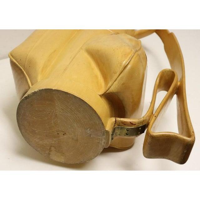 Vintage Carved Wood Decorative Golf Bag For Sale - Image 10 of 11