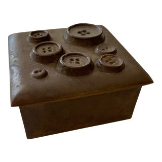 Brass Button Box For Sale