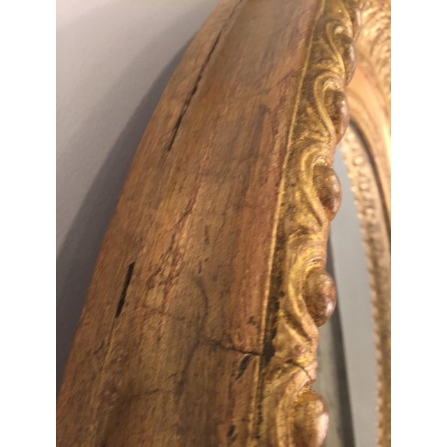 A must-have beautiful oval mirror for your fireplace, entryway, bedroom or living room. Made in the 1940s