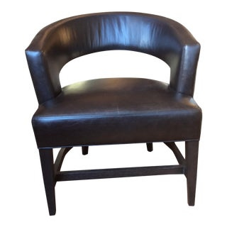 Modern Lee Industries Leather Club Chair For Sale