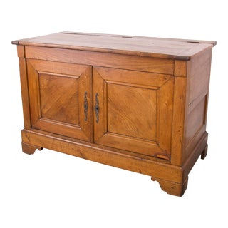 Antique French Farmhouse Style Oak Storage Cabinet For Sale