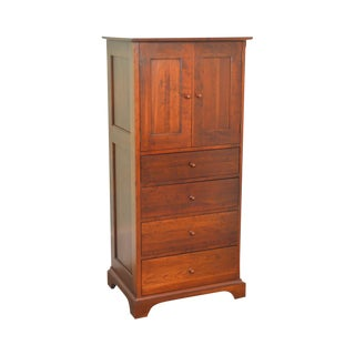 American Impressions Solid Cherry Shaker Style Tall Chest