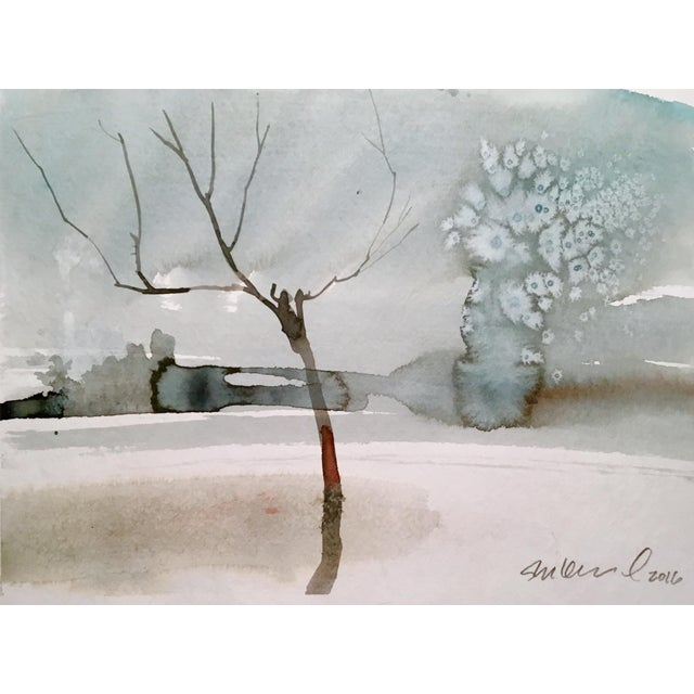 Contemporary Yellowstone Original Watercolor Painting For Sale - Image 3 of 3