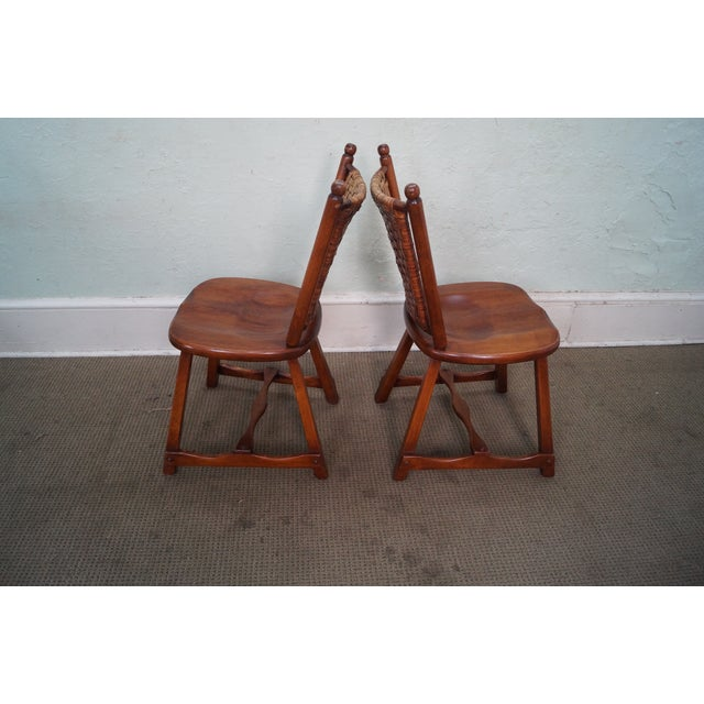 Old Hickory Signed Vintage Woven Splint Back Dining Chairs - Set of 4 For Sale - Image 10 of 10