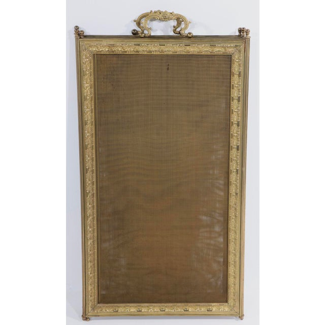 French Folding Fireplace Screen Spark Gard For Sale - Image 12 of 13