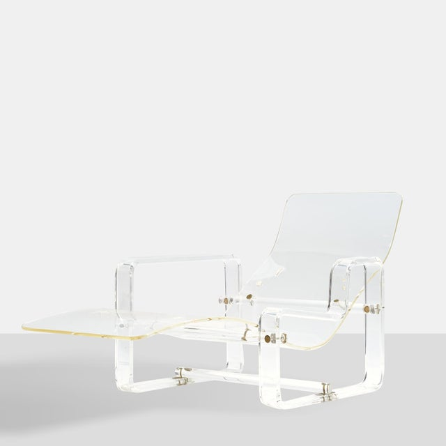 A Lucite chaise lounge by Charles Hollis Jones For Sale In San Francisco - Image 6 of 6