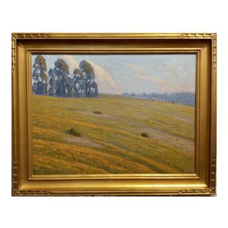 Ernest Browning Smith - California Wildflower Foothills -1920s Oil Painting