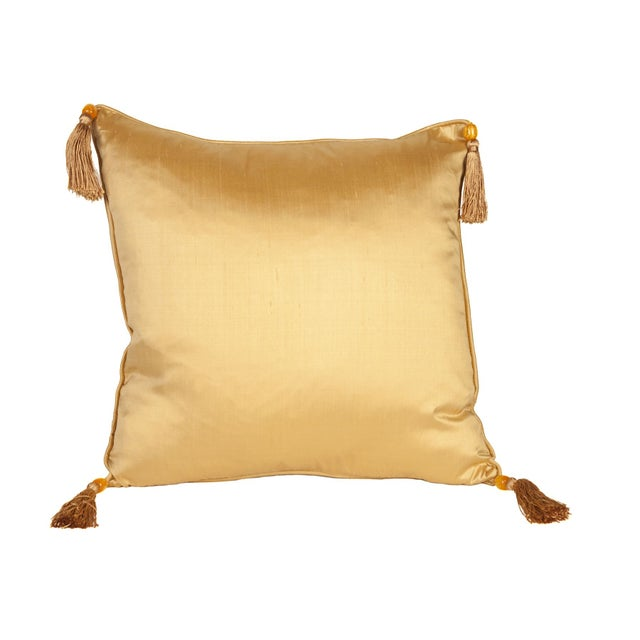 Silk Solid Gold 16x16 Pillow - Image 1 of 1