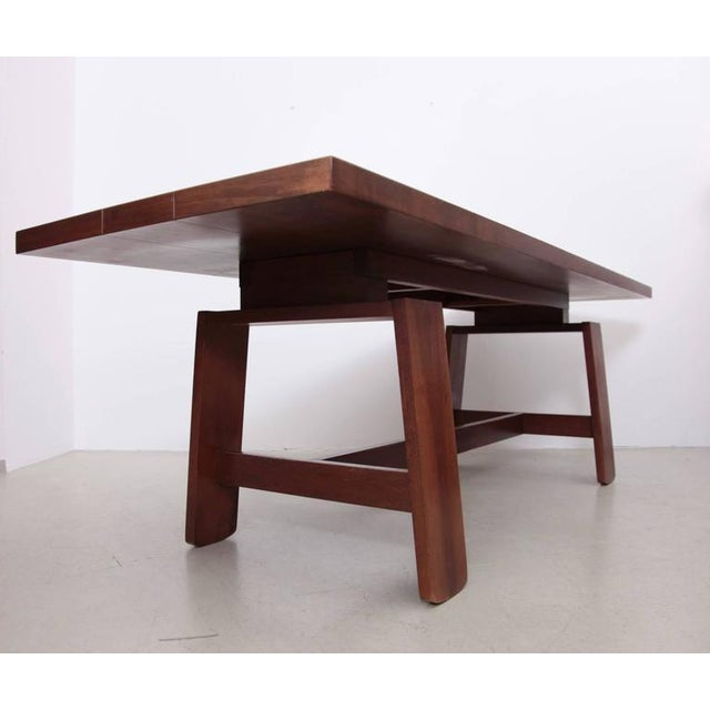 Stunning Large Mahogany Dining Table by Silvio Coppola, Bernini Italy, 1960s For Sale - Image 6 of 8