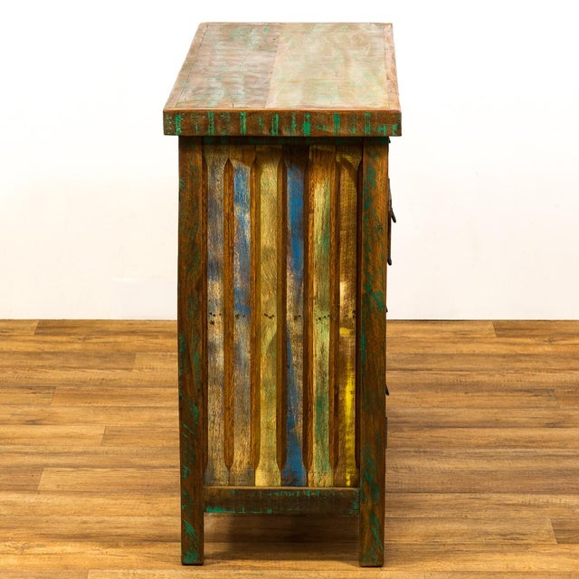 Wood Save the Planet Handmade Reclaimed Solid Wood Buffet Sideboard For Sale - Image 7 of 7