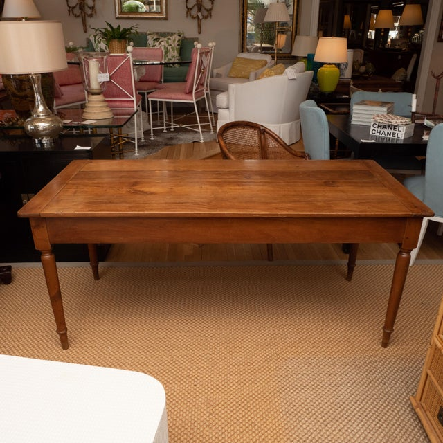 Late 19th Century French Provincial Cherrywood Farm Table For Sale - Image 5 of 11
