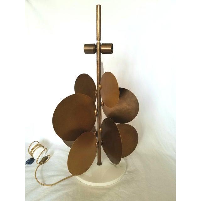 Ralph Pucci Lamp by Herve Van Der Straeten, Pastilles 373 Hammered Brass & Marble For Sale - Image 12 of 12
