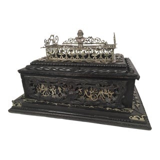 19th Century Huge Black Forest Hand Carved Ink Stand For Sale