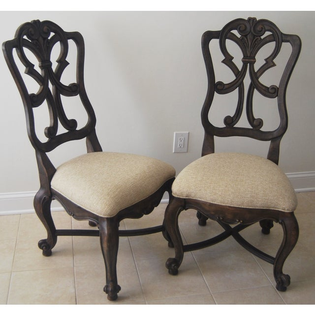 A Pair of French Style Wood Back Side Chairs - Image 2 of 11