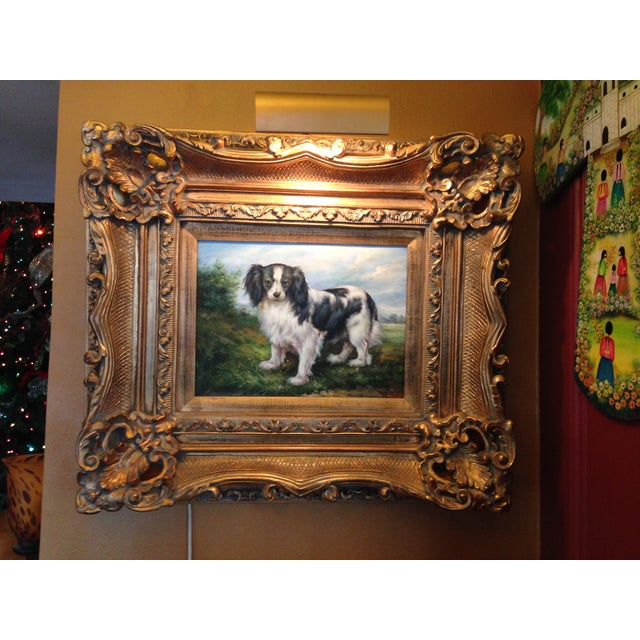 Oil Portrait King Charles Spaniel With Gold Frame - Image 3 of 5