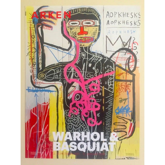 Andy Warhol & Jean Michel Basquiat Rare Limited Edition Original Offset Lithograph Print Poster For Sale - Image 11 of 11