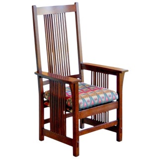 Spindle Armchair by L. & J.G. Stickley For Sale