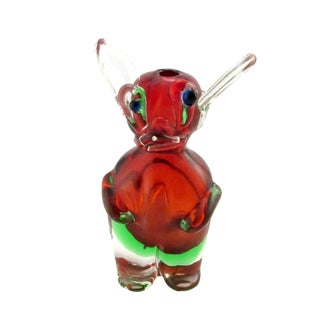 Vintage 1969 Drioli Murano Glass Liqueur Bottle For Sale
