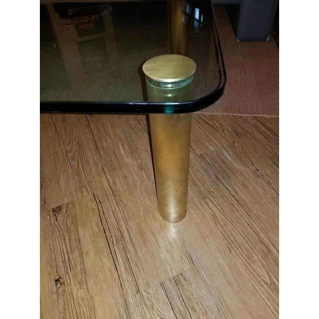 Metal Brass and Glass Coffee Table by the Pace Collection Leon Rosen For Sale - Image 7 of 13