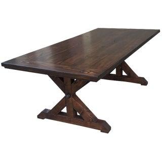 Iron Rod Farmhouse Table For Sale
